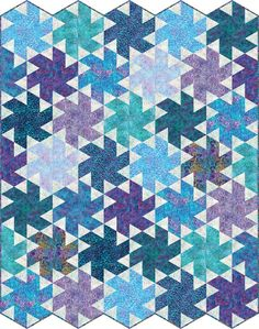 Tiny Dancer designed by Jaybird Quilts.. Features #ArtisanBatiks Fancy Feathers, shipping to stores February 2017.  Fat quarter friendly. Pattern available for purchase (jaybirdquilts.com).