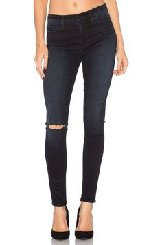 BLACK ORCHID Giselle High Rise Super Skinny Jeans Nocturnal Destroy Blue 26 #308 #BlackOrchid #SlimSkinny