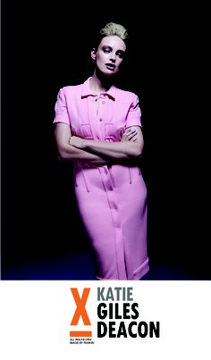 Katie Parsons wears Giles Deacon for All Walks' SNAPPED campaign, shot by Rankin
