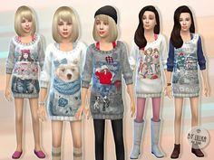 Casual Knit Dress by lillka at TSR • Sims 4 Updates