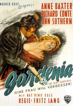 Film Noir Posters  The  Blue Gardenia
