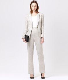 Pure Linen Trouser Suit | Women's Suits | Austin Reed