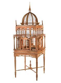 Elizabeth Teak Wood Birdcage