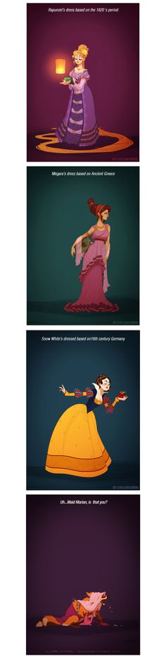 Disney Princesses Redesigned With Historically Accurate Outfits…