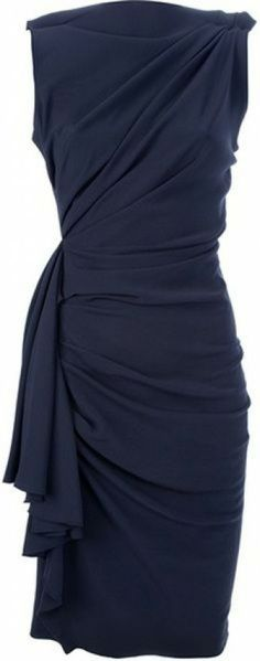 Lanvin Draped and Gathered Fitted Dress in Black