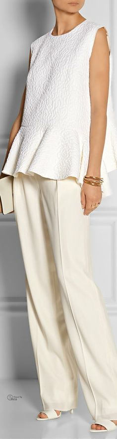 Cream Blouse And Trousers - Preen, Thornton Bregazzi