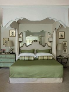 Mary McDonald  50 Gorgeous Green and White Bedrooms - The Glam Pad