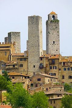 San Gimignano, UNESCO World Heritage Site, Tuscany, Italy. A must stay when bicycle touring Tuscany.