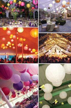 Beautiful lanterns at weddings.