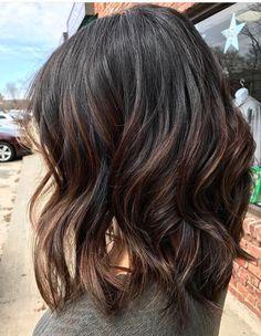 Dark brunette base with subtle bayalage low lights @mariecolorist