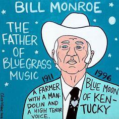 Bill Monroe Bluegrass Pop Folk Art