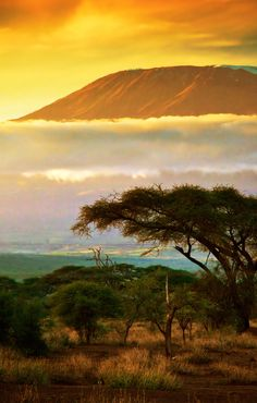 Sunset over Mount Kilimanjaro. Check Groupon to find discounted airfare and hotels as you plan your trip to Kenya.