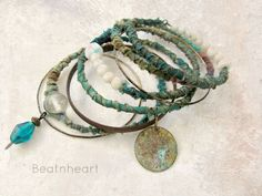 Dreaming of Capri Tribal Gypsy bangle stack by beatnheart on Etsy, $43.00
