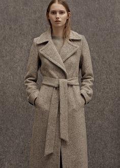 Premium - long wool coat - Coats for Women | MANGO