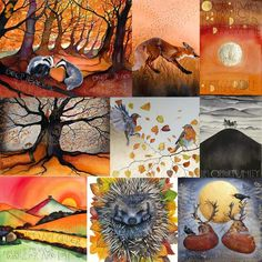 Sam Cannon, Fall Pictures, Pencil Drawings, Colored Pencils, Paintings, Autumn, Seasons, Colours, Watercolor