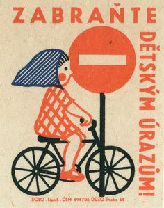 Czechoslovakian matchbox label - love these, I have loads of them