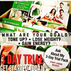 I need 10 people to sample Herbalife Nutrition for 3 days. Comment ...