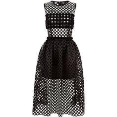Paskal Black Laser-Cut Crepe Dress (19,700 MXN) ❤ liked on Polyvore featuring dresses, laser cut dress, ruched dress, ruched cocktail dress, pom pom dress and rouched dress