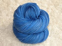 Hand Dyed yarn Worsted Weight 100 Superwash by mustardseedyarnlab