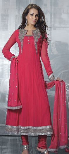 92980  Day 5 #WIFW2013 Designer duo Dhruv-Pallavi shows bright Monotones. Get similar A/W style in this anarkali.