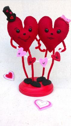 Valentine Heart Characters I Love You by MsBittyKnacks on Etsy, $20.00