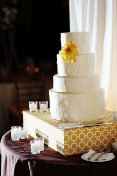 A Summer Wedding Cake with Unique & Refreshing Ingredients: Strawberry Cake, Lemon Cream Filling & Strawberry Coulis Garnish