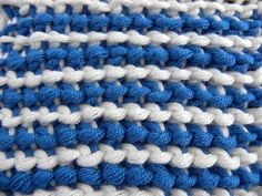 Tunisian Crochet - reverse stitch color change left - Kraus and Stitch (IN GERMAN - If you are familiar with Tunisian Crochet you can watch this video to learn this stitch... The video is very good... Deb)