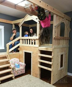 Play house with monkey bars