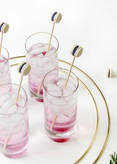 DIY Mini Macaron Cockail Swizzle Sticks