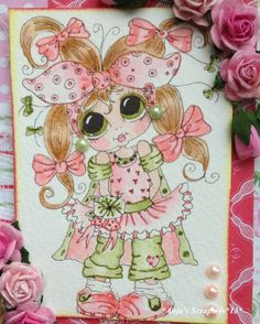 Bestie close-up by Anja... see entire card in her blog post