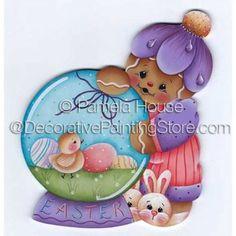 Easter Globe by Pamela House - PDF DOWNLOAD