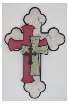 Cross, like the layered offset of the crosses!