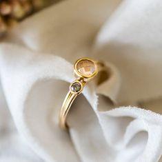 edffd00698bd Rose Quartz Ring - 9ct Yellow Gold - Stacking