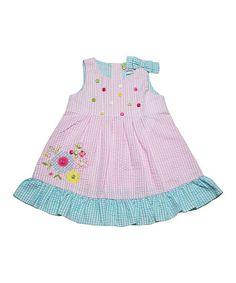 Love this Pink Flower Gingham Dress - Infant, Toddler & Girls on #zulily! #zulilyfinds