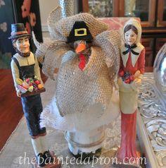 burlap turkey bottle topper thepaintedapron.com 1 Thanksgiving 2016, Thanksgiving Decorations, Fall Crafts, Holiday, Christmas, Burlap, Turkey, Halloween, Bottle