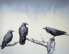 Ravens  numbered and signed edition in 100 by inunbattitodali, €85.00