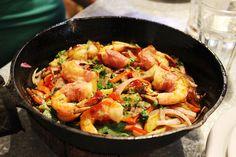 Jamon Serrano wrapped shrimp- El Taller