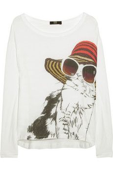 I wish this Markus Lupfer Cool Cat printed top was in my size - it is a bargain at £49.50