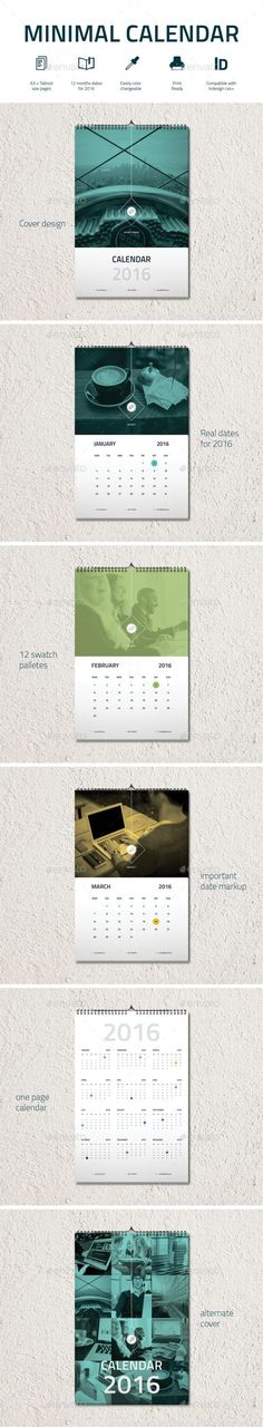 2017 template indesign indd wall calendar 2017 template indesign ...
