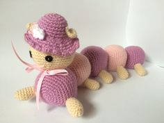 Amigurumi caterpillar crochet for kids - stuffed animal toy, rattle option, home…