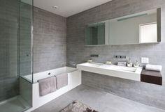 decoracion baño gris - Buscar con Google