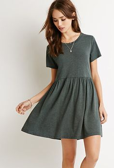 """Buy in NYC Heathered Babydoll Dress 