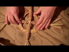 Celtic crosses are a very common wheat weaving motif. Messy Bun With Braid, Braided Buns, Messy Buns, Braided Bun Hairstyles, Updo Hairstyle, Prom Hairstyles, Weaving Art, Hand Weaving, Straw Weaving