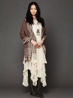 Free People Hooded Poncho at Free People Clothing Boutique