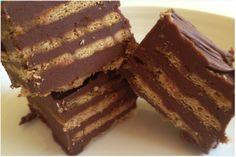 Tarta de galletas y chocolate ¡Sin horno!
