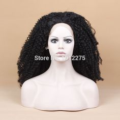 44.00$  Buy now - http://alizpb.worldwells.pw/go.php?t=32583172277 - hot sales black curly hair wigs for black women synthetic lace front wig heat resistant fiber free shipping