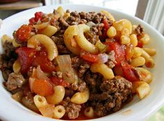 Mom's Goulash can be THM friendly by using Dreamfield pasta and THM ketchup.