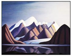 Lawren Harris's Mt Thule Bylot Island Ontario Canada Landscape Counted Cross Stitch or Counted Needlepoint Pattern