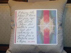Cross Stitch Bible Verse Jeremiah I know the plans I have for you says the lord, plans for welfare and not calamity to give you a future and a hope, Jer 29 11, 123 Stitch, Jeremiah 29 11, I Know The Plans, Cross Stitch Designs, Joyful, Bible Verses, Lord, Bullet Journal