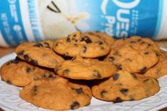 Soft Chocolate Chip Protein Cookies